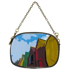 Brightly Colored Dressing Huts Chain Purses (one Side)  by Nexatart