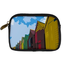 Brightly Colored Dressing Huts Digital Camera Cases by Nexatart