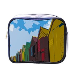 Brightly Colored Dressing Huts Mini Toiletries Bags by Nexatart