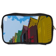 Brightly Colored Dressing Huts Toiletries Bags 2 Side by Nexatart