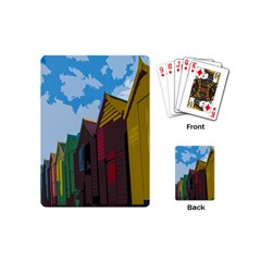 Brightly Colored Dressing Huts Playing Cards (mini)