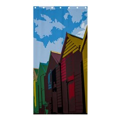 Brightly Colored Dressing Huts Shower Curtain 36  X 72  (stall)  by Nexatart