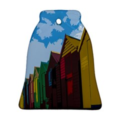 Brightly Colored Dressing Huts Bell Ornament (two Sides) by Nexatart