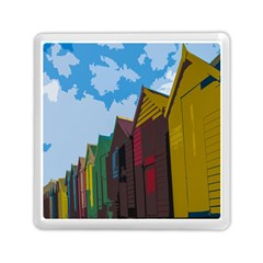 Brightly Colored Dressing Huts Memory Card Reader (square)