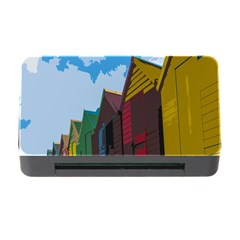 Brightly Colored Dressing Huts Memory Card Reader With Cf by Nexatart