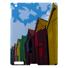 Brightly Colored Dressing Huts Apple Ipad 3/4 Hardshell Case by Nexatart