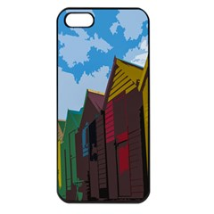 Brightly Colored Dressing Huts Apple Iphone 5 Seamless Case (black) by Nexatart