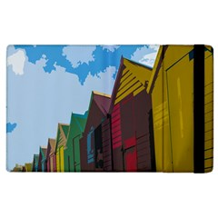 Brightly Colored Dressing Huts Apple Ipad 2 Flip Case by Nexatart