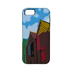 Brightly Colored Dressing Huts Apple iPhone 5 Classic Hardshell Case (PC+Silicone)
