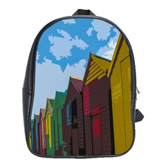 Brightly Colored Dressing Huts School Bags (xl)