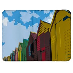 Brightly Colored Dressing Huts Samsung Galaxy Tab 7  P1000 Flip Case by Nexatart