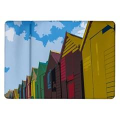 Brightly Colored Dressing Huts Samsung Galaxy Tab 10 1  P7500 Flip Case by Nexatart