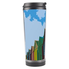 Brightly Colored Dressing Huts Travel Tumbler by Nexatart