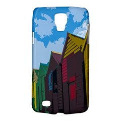 Brightly Colored Dressing Huts Galaxy S4 Active by Nexatart