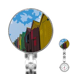 Brightly Colored Dressing Huts Stainless Steel Nurses Watch by Nexatart