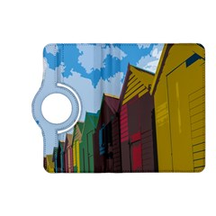 Brightly Colored Dressing Huts Kindle Fire Hd (2013) Flip 360 Case by Nexatart