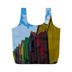 Brightly Colored Dressing Huts Full Print Recycle Bags (m)  by Nexatart