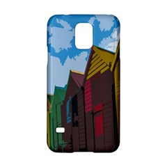 Brightly Colored Dressing Huts Samsung Galaxy S5 Hardshell Case  by Nexatart