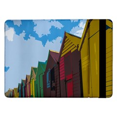 Brightly Colored Dressing Huts Samsung Galaxy Tab Pro 12 2  Flip Case by Nexatart