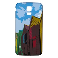 Brightly Colored Dressing Huts Samsung Galaxy S5 Back Case (white) by Nexatart