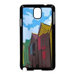 Brightly Colored Dressing Huts Samsung Galaxy Note 3 Neo Hardshell Case (black) by Nexatart