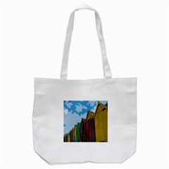 Brightly Colored Dressing Huts Tote Bag (white)