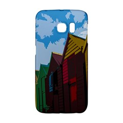 Brightly Colored Dressing Huts Galaxy S6 Edge by Nexatart