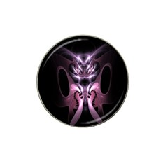 Angry Mantis Fractal In Shades Of Purple Hat Clip Ball Marker (4 Pack) by Nexatart