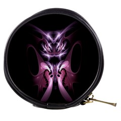 Angry Mantis Fractal In Shades Of Purple Mini Makeup Bags by Nexatart
