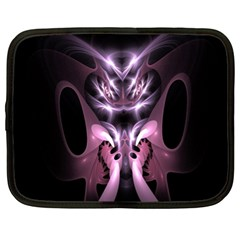 Angry Mantis Fractal In Shades Of Purple Netbook Case (xl)