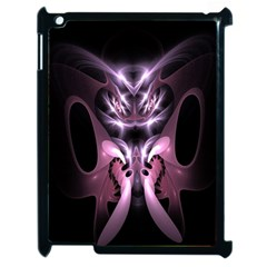 Angry Mantis Fractal In Shades Of Purple Apple Ipad 2 Case (black) by Nexatart