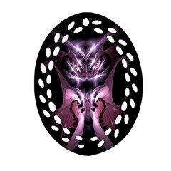 Angry Mantis Fractal In Shades Of Purple Oval Filigree Ornament (two Sides) by Nexatart