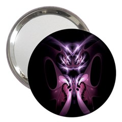 Angry Mantis Fractal In Shades Of Purple 3  Handbag Mirrors by Nexatart