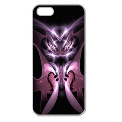 Angry Mantis Fractal In Shades Of Purple Apple Seamless Iphone 5 Case (clear)