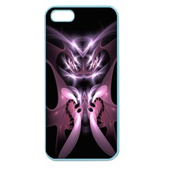 Angry Mantis Fractal In Shades Of Purple Apple Seamless Iphone 5 Case (color)