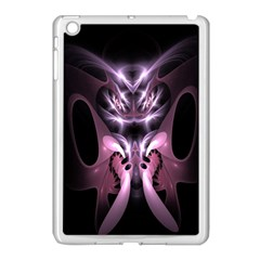 Angry Mantis Fractal In Shades Of Purple Apple Ipad Mini Case (white) by Nexatart