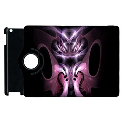 Angry Mantis Fractal In Shades Of Purple Apple Ipad 2 Flip 360 Case by Nexatart