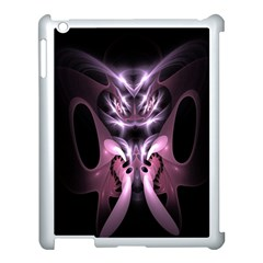 Angry Mantis Fractal In Shades Of Purple Apple Ipad 3/4 Case (white)