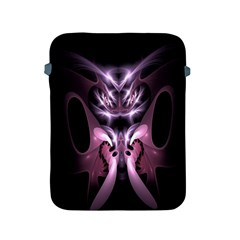 Angry Mantis Fractal In Shades Of Purple Apple Ipad 2/3/4 Protective Soft Cases by Nexatart
