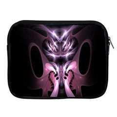 Angry Mantis Fractal In Shades Of Purple Apple Ipad 2/3/4 Zipper Cases