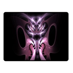 Angry Mantis Fractal In Shades Of Purple Double Sided Fleece Blanket (small)