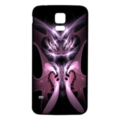 Angry Mantis Fractal In Shades Of Purple Samsung Galaxy S5 Back Case (white) by Nexatart