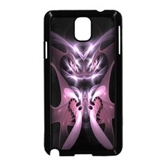 Angry Mantis Fractal In Shades Of Purple Samsung Galaxy Note 3 Neo Hardshell Case (black) by Nexatart