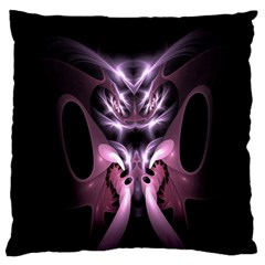 Angry Mantis Fractal In Shades Of Purple Large Flano Cushion Case (two Sides)
