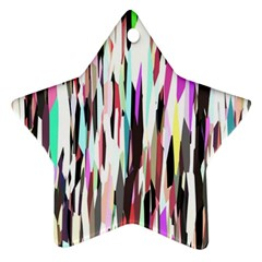 Randomized Colors Background Wallpaper Ornament (star) by Nexatart