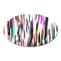 Randomized Colors Background Wallpaper Oval Magnet by Nexatart