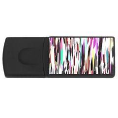 Randomized Colors Background Wallpaper Usb Flash Drive Rectangular (4 Gb) by Nexatart