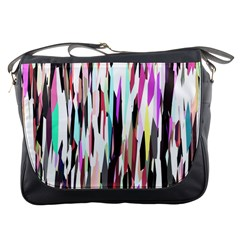 Randomized Colors Background Wallpaper Messenger Bags by Nexatart