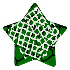Abstract Clutter Star Ornament (two Sides)