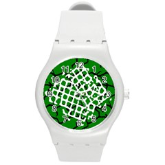 Abstract Clutter Round Plastic Sport Watch (m) by Nexatart